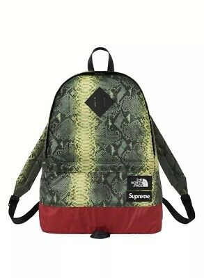 $ CDN208.54 • Buy Supreme The North Face Printed Snakeskin Green Daypack Backpack SS '18 TNF