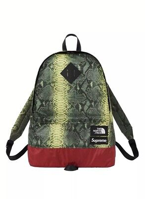$ CDN201.42 • Buy Supreme The North Face Printed Snakeskin Green Daypack Backpack SS '18 TNF