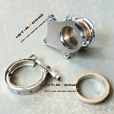 $ CDN89.75 • Buy Conversion Adapter Kit T3 T3/T4 5 Bolt Turbo Downpipe Flange To 3.0  Inch V-Band