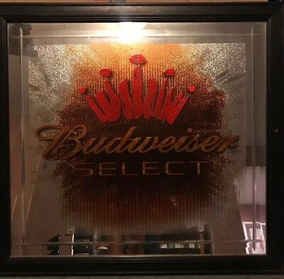 $ CDN28.53 • Buy Budweiser Select Bar Mirror Picture 24.5x22.5 Mancave Beer Sign Collector