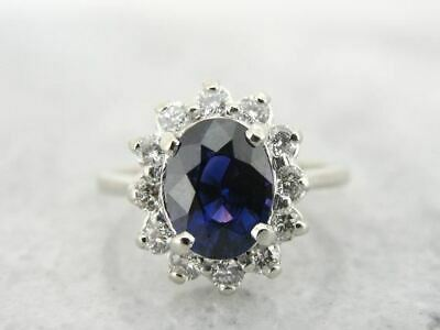 £4178.34 • Buy Stunning Color Changing Sapphire And Diamond Kate Middleton Style Cocktail Ring