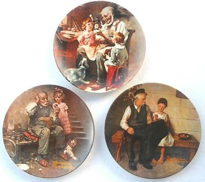 $ CDN23.29 • Buy Norman Rockwell 3pc Plates Lot Toy Maker Cobbler Lighthouse Keepers Heritage