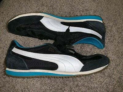 super popular c5181 8ffc2 Vintage PUMA Whirlwind Men s Shoes Size 10 1 2 Black And Blue Used Nice!