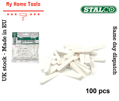100 Pcs SMALL Size Wedges Spacers Tile Tool Tiling Flooring Set White Stalco 4mm • 3.95£