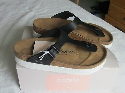 NEW Papillio Ladies Gizeh Black Platform Mules Sandals UK Size 7 EU 40 • 69.99£
