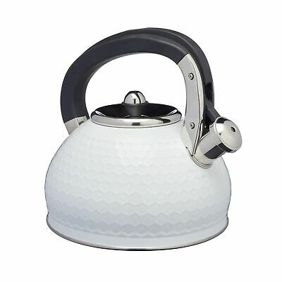 Lovello Stove Top Kettle With Geometric Textured Finish - Ice White • 32.95£