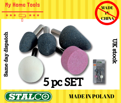 £4.29 • Buy 5 PC STONE BIT SET GRINDING MOUNTED 1/4  ROUTER GRINDER DRILL CRAFT METAL Stalco