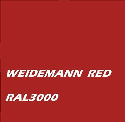 £16.45 • Buy Weidemann Red RAL3000 Agricultural Machinery Enamel Gloss Paint Brush Or Spray