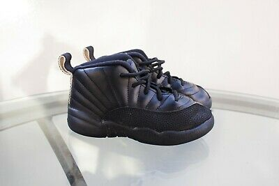 98e5154bfa0 Nike Air Jordan Retro 12 Xll Black Toddler 850000 013 Sz 9C • 35.00$