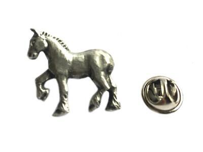 Shire Horse Lapel Pin Badge. Fine English Pewter. Gift Pouched. • 4.90£