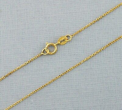 £45.99 • Buy 9ct Yellow Gold Diamond Cut Trace Chain 16 , 18 , 20  Inches New!