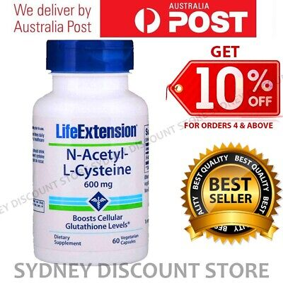 AU39.11 • Buy Life Extension N-Acetyl Cysteine NAC 600mg 60 Caps NEW