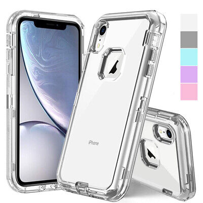 AU9.99 • Buy IPhone X XS Max 6 7 8 Plus 11 Pro Clear Crystal Defender Case Cover + Belt Clip