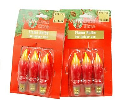 $18.95 • Buy Christmas Time Indoor Use Flame Bulbs FM-95 3-Pack Lot Of 2 Ornament Decoration