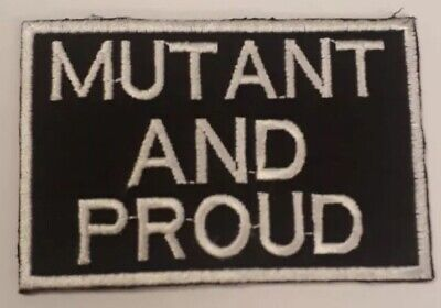 """£3.75 • Buy X Men Mutant And Proud Embroidered Patch Badge 3"""""""