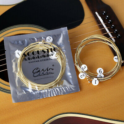 $ CDN5.94 • Buy 6 PCS Acoustic Guitar Strings Set Phosphor Bronze & Steel Strings