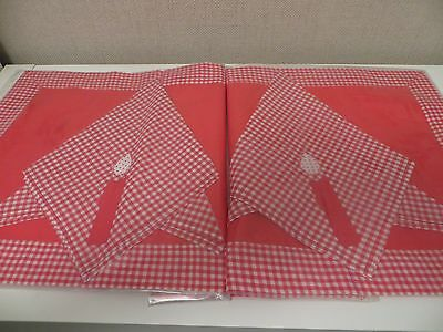 Beautiful Made Place Mat And Napkin For Christmas Vintage • 6£