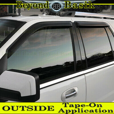 $34.99 • Buy 1997-2017 FORD EXPEDITION Smoke Door Vent Window Visors Side Shade Rain Guards