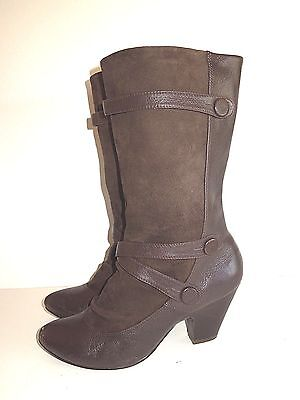 $19.95 • Buy Nana Espresso Brown Leather Boots Pull On Size 8 Vguc