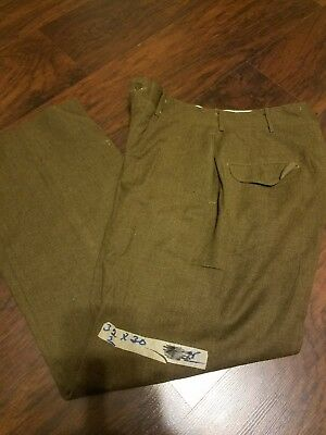 $25 • Buy T-125 True Vintage Military Trousers Wool 32×32  M-1952 O.D