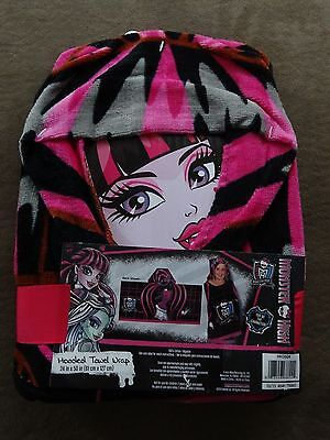 Monster High Hooded Towel Wrap-24  X 50 -100% Cotton-New • 8.48£