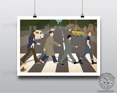 £12 • Buy THE YOUNG ONES Abbey Road Comedy Print Minimal Poster Posteritty Mayall Rik Vyv