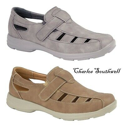Mens Faux Leather Touch Strap Summer Beach Mules Gladiator Sandals Shoes Size • 16.99£