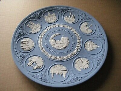 Wedgwood Jasperware Blue 10th Anniversary Christmas Plate • 29.99£
