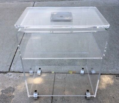 $399 • Buy Vintage Lucite 3 Tier Tv Microwave End Stand Table Cart