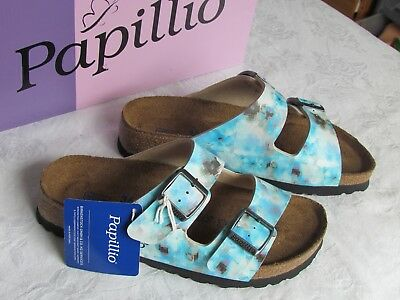 NEW Papillio Arizona Ladies Pixel Electric Blue SOFT FOOTBED Sandals Size 3.5 36 • 69.99£