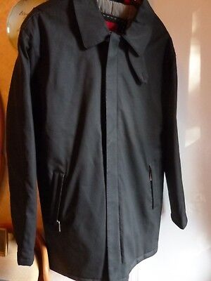 $12 • Buy Mens NICOLE MILLER Black Polyurethane Coat Warm Quilted Lining Size M
