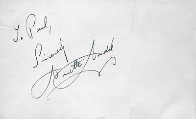 $ CDN39.67 • Buy Sexy 1960s Actress ANNETTE ANDRE Signed Album Page - THE AVENGERS, THE SAINT
