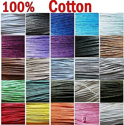 £1.70 • Buy Waxed Cotton Cord 1mm ,10m To 50m Jewellery Making & Bracelet Necklace Craft