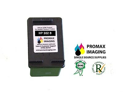Remanufactured HP 302 Standard Black Cartridge • 12£