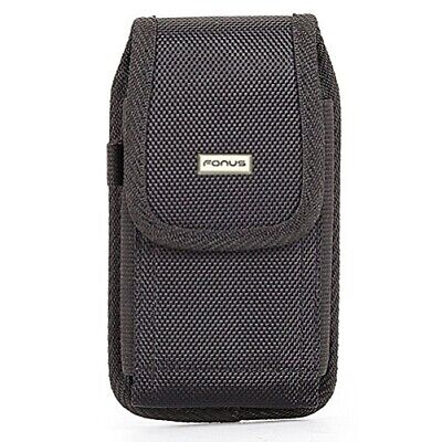 $14.29 • Buy Black Rugged Case Holster Belt Clip Protective Pouch Cover Q3G For Cell Phones