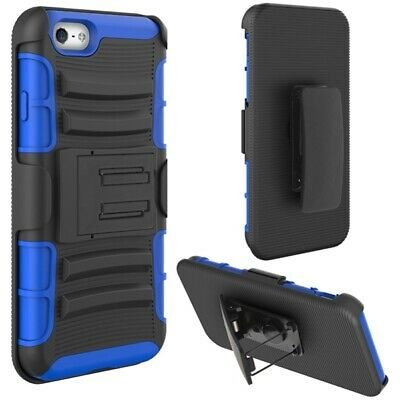 AU14.77 • Buy For IPhone 6S/6 - Drop-proof Holster Case Hybrid Cover Swivel Belt Clip