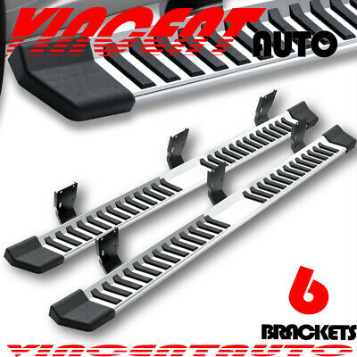 $154.99 • Buy For 99-16 FORD F250 Superduty Crew Cab 6  Running Board Side Step Nerf Bar S/S V
