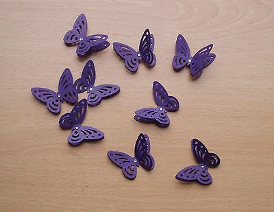 £2.99 • Buy 3d Cadbury Purple Butterflies. Wedding Stationery, Cards, Crafts, Toppers