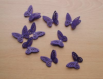 £5.55 • Buy 40 3d Cadbury Purple Butterflies. Wedding Stationery, Cards, Crafts, Toppers