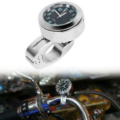 $9.99 • Buy Silver Waterproof Motorcycle Bicycle Handlebar 7/8 -1  Mount Dial Clock Watch