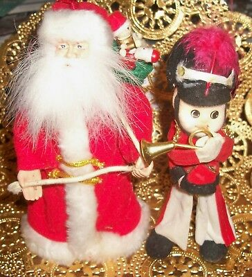 $ CDN7.82 • Buy Vintage, But New, Christmas Decorations, SANTA CLAUS & TOY SOLDIER, EXCELLENT!