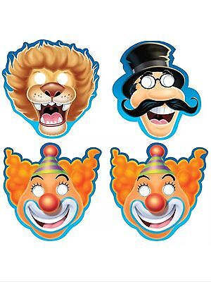 $2.99 • Buy Big Top Circus Birthday Party Supplies- Paper Party Masks-8ct.