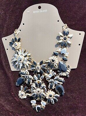 New Ladies River Island Necklace Eye Catching Jewellery Wedding Xmas Gift Cheap • 18.95£