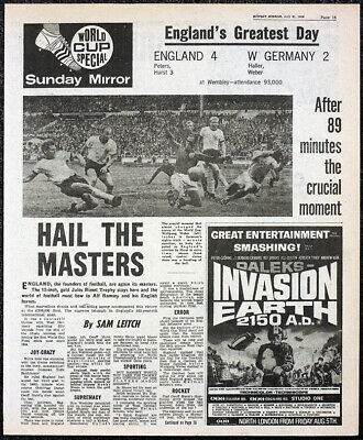 £6.99 • Buy Doctor Who Dalek Invasion Of Earth Movie Ad Sunday Mirror Newspaper 31 July 1966