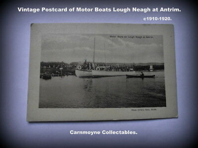 Vintage Postcard Of Motor Boats On Lough Neagh At Antrim. C1910-1820.AH6587. • 14.99£