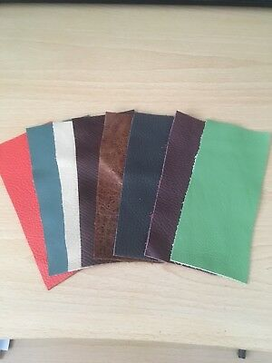 £4.50 • Buy 8 X Leather Offcuts/ Scraps/ Remnants For Patchwork / Repairs+ Crafts- Mixed