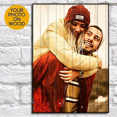 Birthday Gifts For Boyfriend Personalised Gifts For Him Photo On Wood Wall Art • 32£