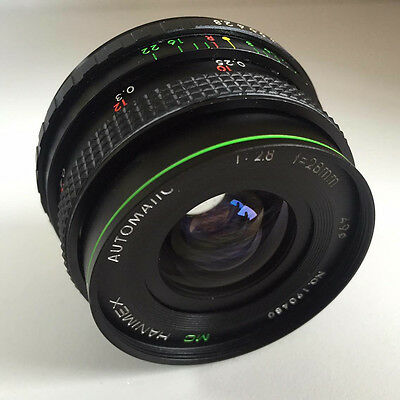 HANIMEX MC 28mm F2.8 Lens - M42 Fit 'GOOD' • 29.99£