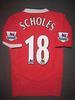 0d8cb6904f6 2004-2006 Authentic Nike Manchester United Paul Scholes Jersey Shirt Kit  England • 99.99