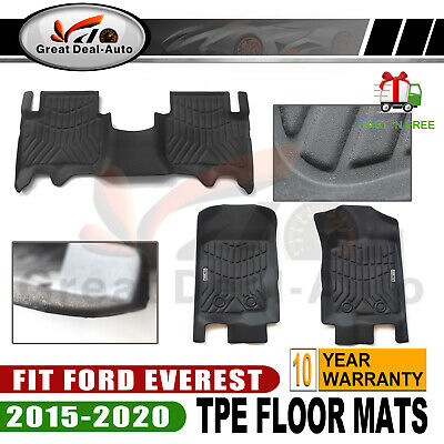 AU125.53 • Buy Prime Quality 3D TPE All Weather Floor Mats Liners Fit Ford EVEREST 2015-2020